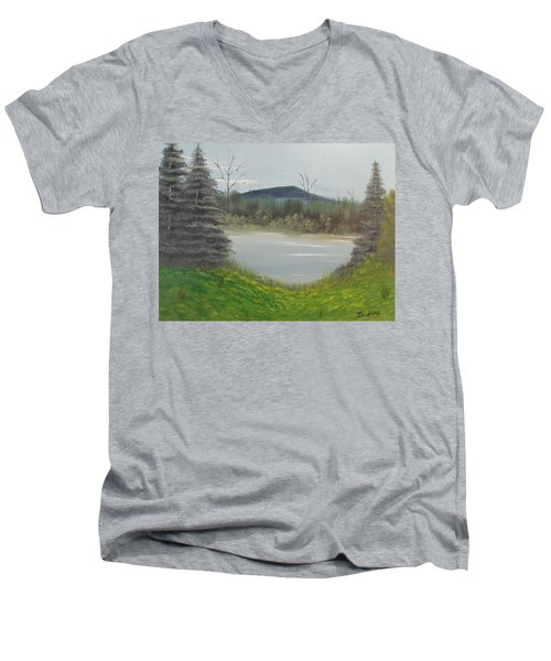 Hidden Pond  Men's V-Neck T-Shirt