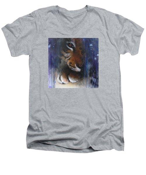 Hidden Tiger Men's V-Neck T-Shirt