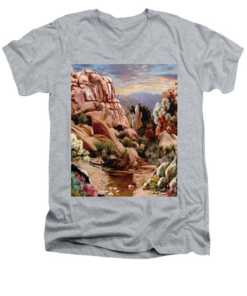 Hidden Valley Trail Men's V-Neck T-Shirt by Ron Chambers