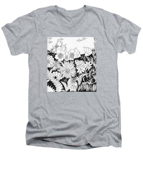 Hide And Seek Men's V-Neck T-Shirt by Lou Belcher