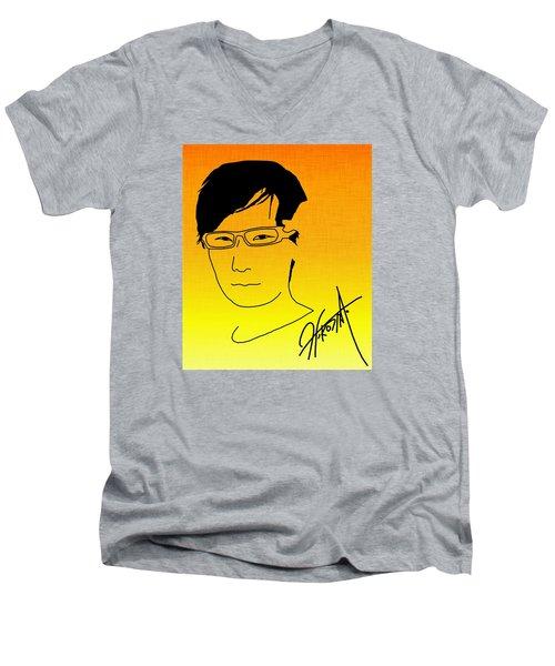 Hideo Kojima Men's V-Neck T-Shirt
