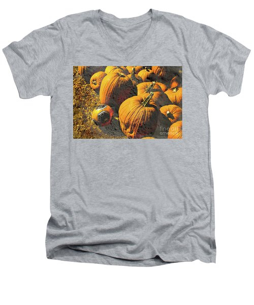 Hiding In Plain Pumpkin Men's V-Neck T-Shirt
