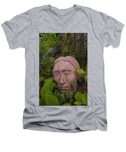 Hiding Signed Men's V-Neck T-Shirt
