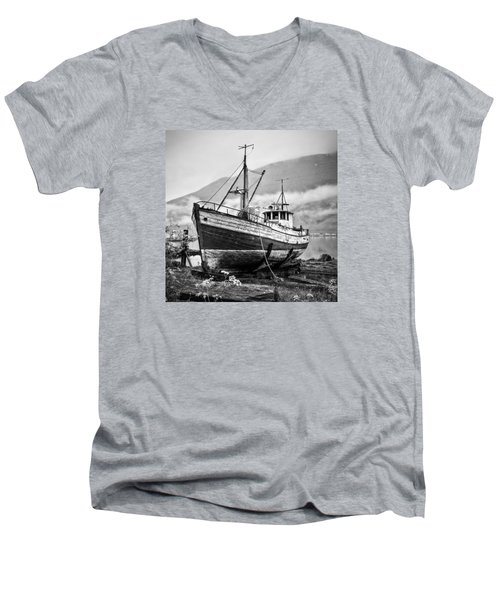High And Dry Men's V-Neck T-Shirt by Brad Grove