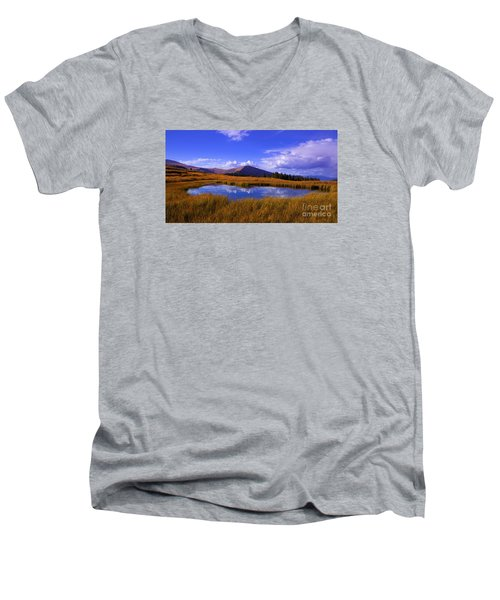 High Country Pond Men's V-Neck T-Shirt