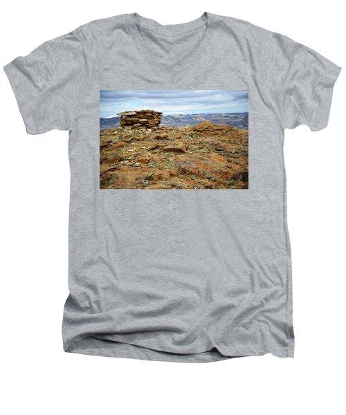 High Desert Cairn Men's V-Neck T-Shirt