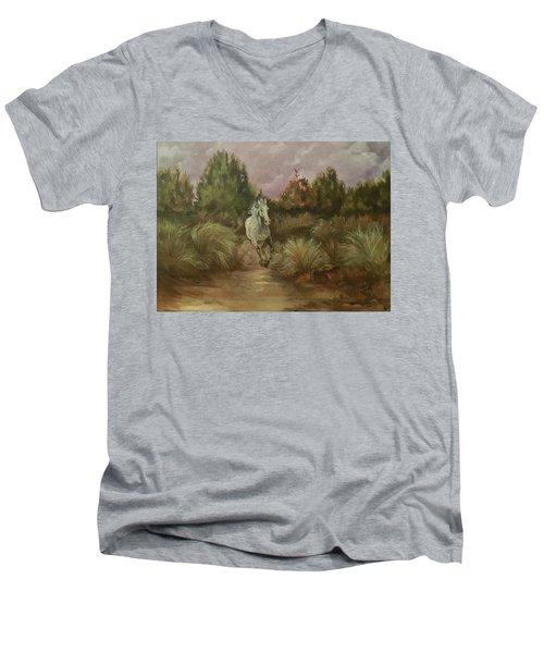 High Desert Runner Men's V-Neck T-Shirt