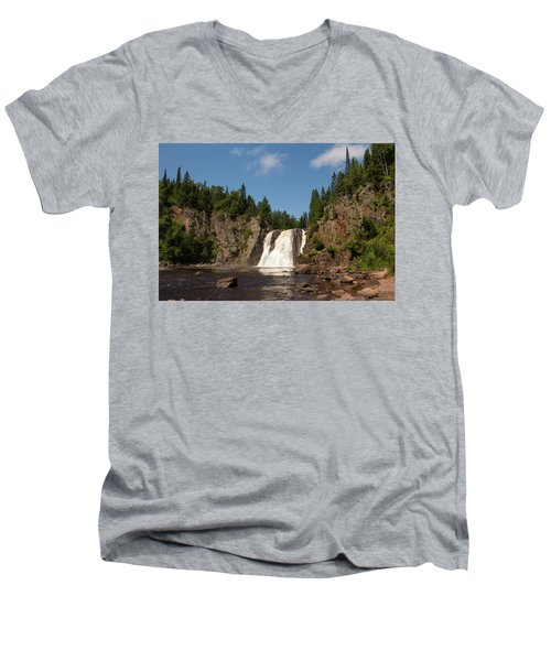 High Falls At Tettegouche State Park Men's V-Neck T-Shirt