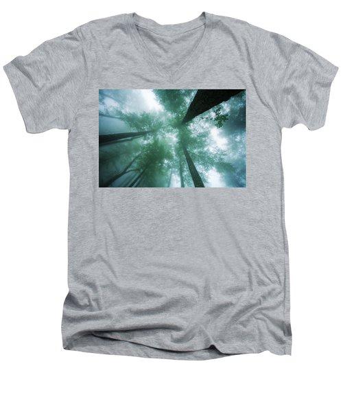 High In The Mist Men's V-Neck T-Shirt