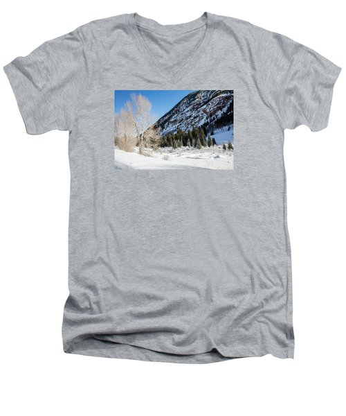 High In The Rockies Before Independence Pass Men's V-Neck T-Shirt