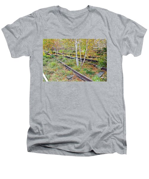 High Line Print 2 Men's V-Neck T-Shirt