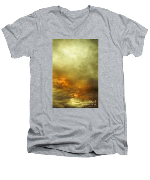 Men's V-Neck T-Shirt featuring the photograph High Pressure Skyline by Jorgo Photography - Wall Art Gallery