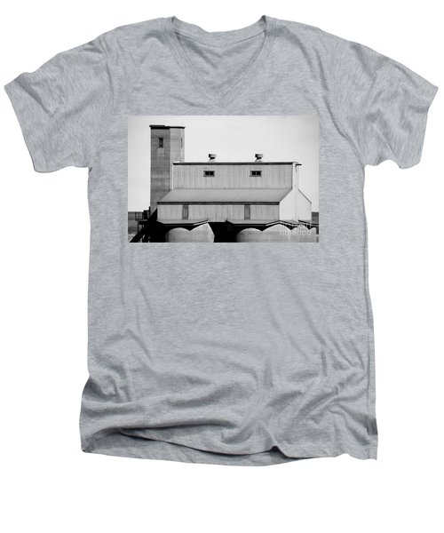 Men's V-Neck T-Shirt featuring the photograph High Rise by Stephen Mitchell