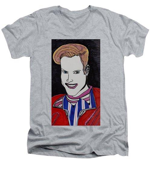 High School Hero Men's V-Neck T-Shirt by Don Koester