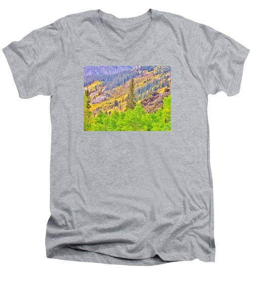 High Sierra Fall Colors Men's V-Neck T-Shirt