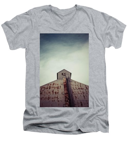 Men's V-Neck T-Shirt featuring the photograph High View by Trish Mistric