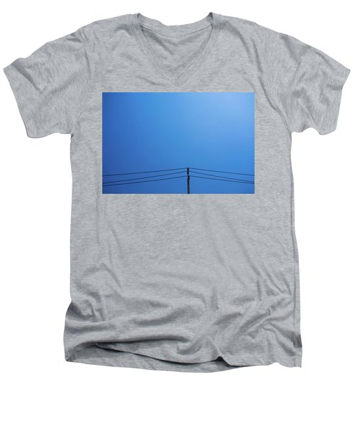 Men's V-Neck T-Shirt featuring the photograph High Voltage Power, Electric Pose by Jingjits Photography