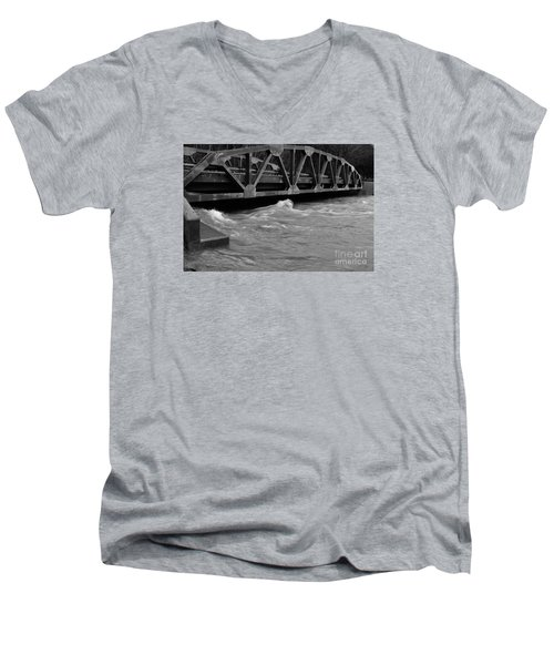 High Water Men's V-Neck T-Shirt by Randy Bodkins