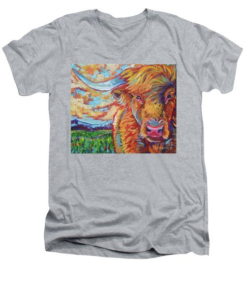 Highland Breeze Men's V-Neck T-Shirt by Jenn Cunningham