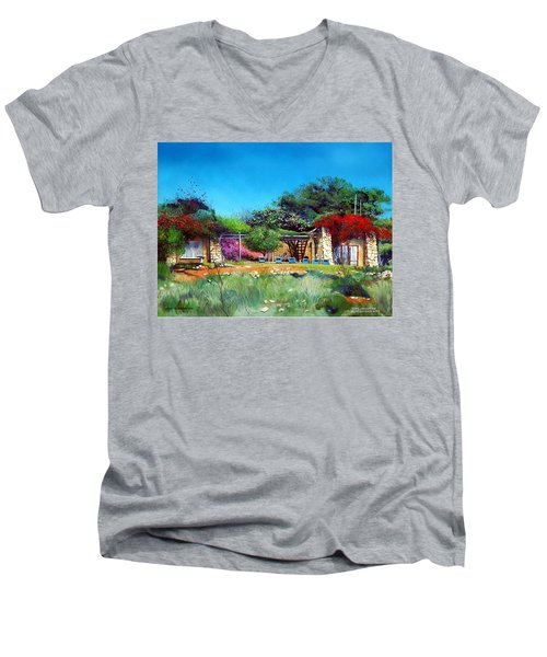 Highveld House Men's V-Neck T-Shirt by Tim Johnson