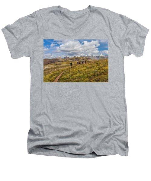 Hiking At 13,000 Feet Men's V-Neck T-Shirt
