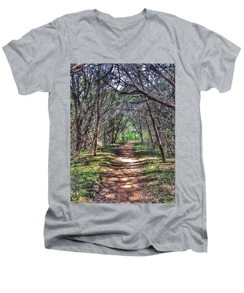 Hiking Meridian State Park  Men's V-Neck T-Shirt