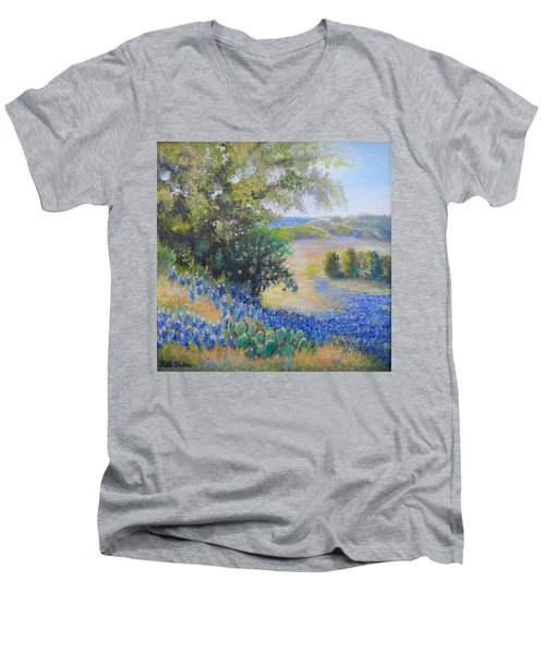 Hill Country View Men's V-Neck T-Shirt
