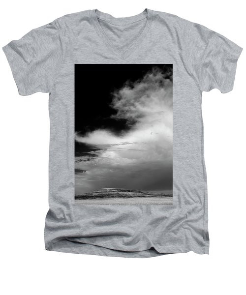 Hill Top Cross Men's V-Neck T-Shirt