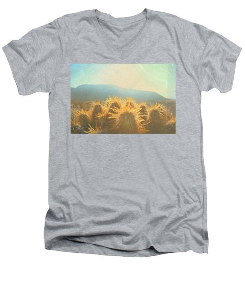 Men's V-Neck T-Shirt featuring the photograph Hill Top Sunset  by Mark Ross