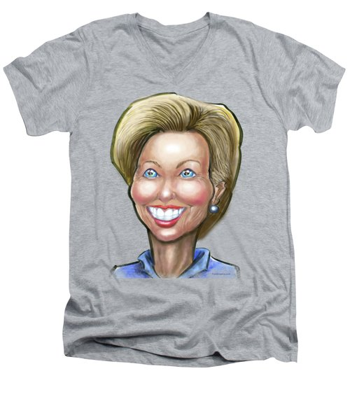 Hillary Clinton Caricature Men's V-Neck T-Shirt