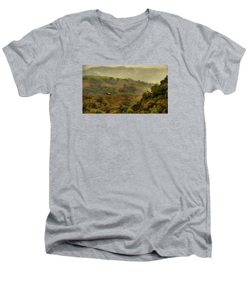Hills Above Anderson Valley Men's V-Neck T-Shirt by Josephine Buschman