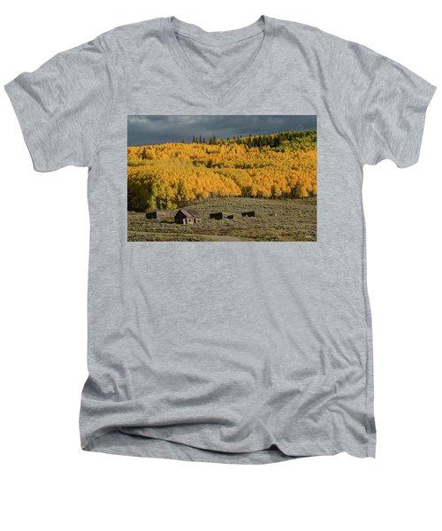 Hills Afire Men's V-Neck T-Shirt