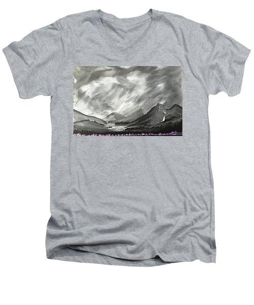 Hills And Heather  Men's V-Neck T-Shirt by Scott Wilmot