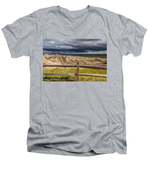 Hills Behind The Fence Men's V-Neck T-Shirt