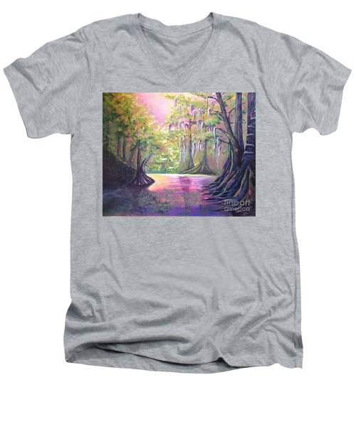 Withlacoochee River Nobleton Florida Men's V-Neck T-Shirt