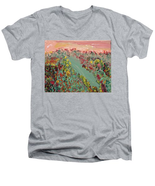 Hillside Flowers Men's V-Neck T-Shirt