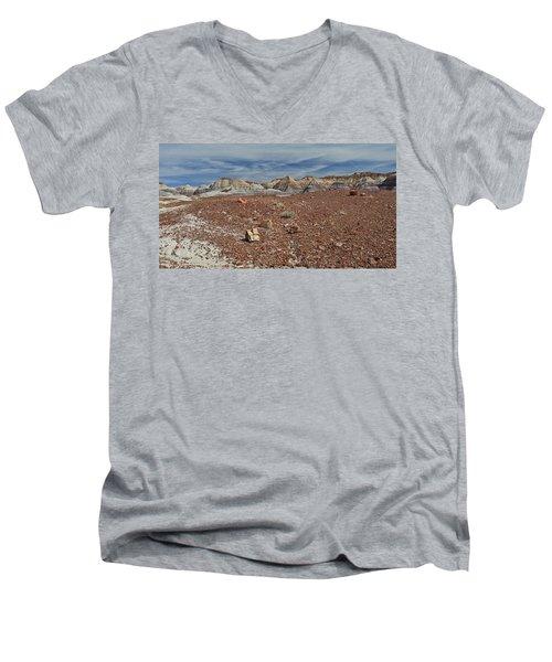 Men's V-Neck T-Shirt featuring the photograph Hillside Hues by Gary Kaylor