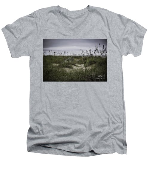 Men's V-Neck T-Shirt featuring the photograph Hilton Head by Judy Wolinsky
