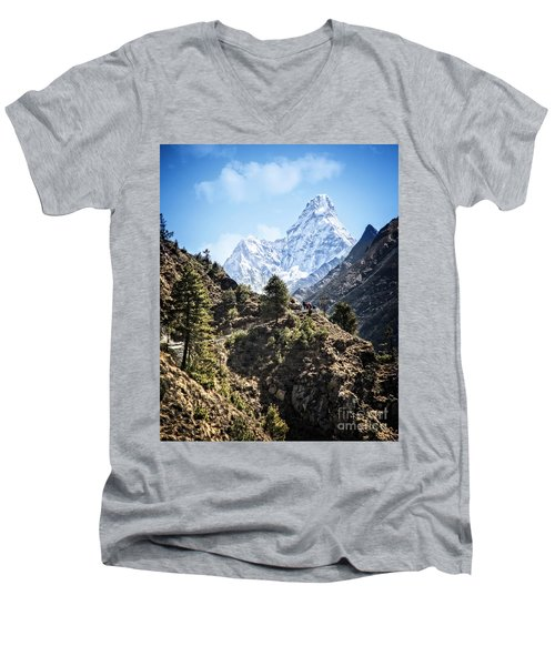 Himalaya Trail Men's V-Neck T-Shirt