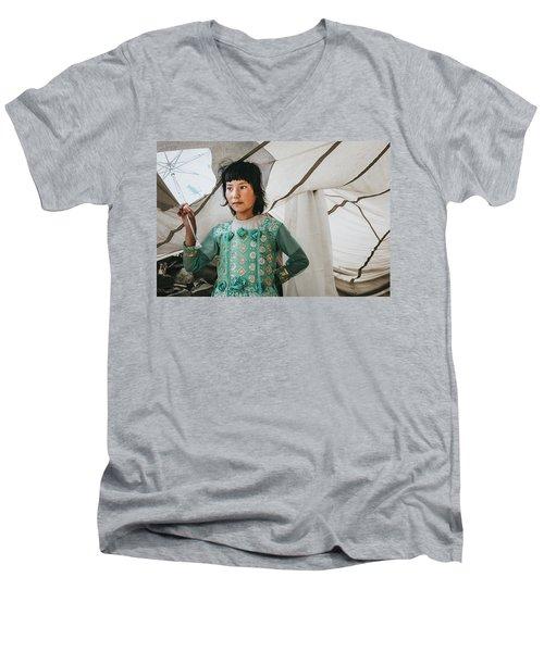 Himalayan Girl Men's V-Neck T-Shirt