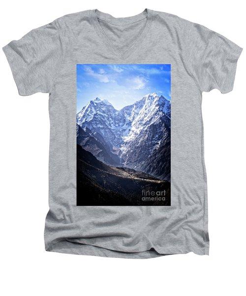 Himalayan Village Men's V-Neck T-Shirt
