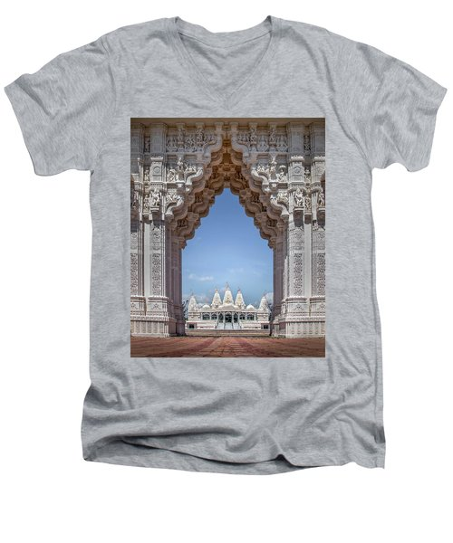 Hindu Architecture Men's V-Neck T-Shirt