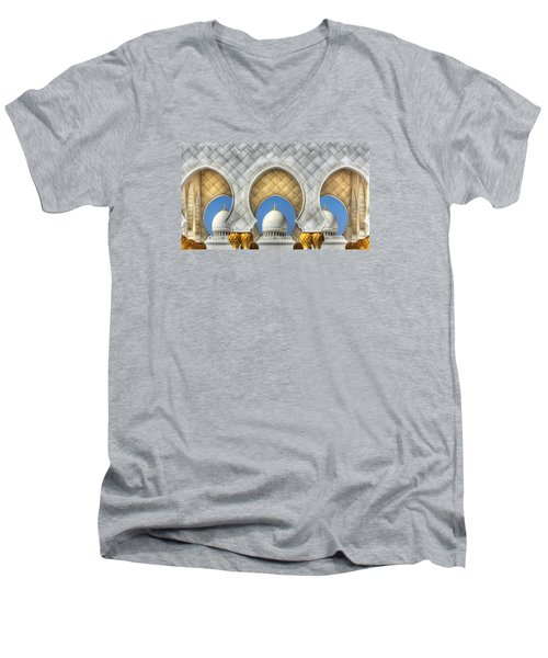 Hindu Temple Men's V-Neck T-Shirt