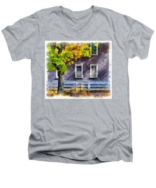 Hints Of Fall Men's V-Neck T-Shirt