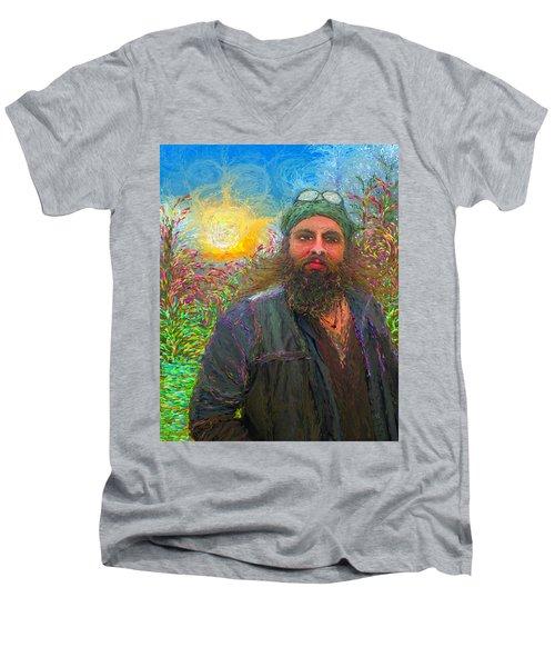 Hippie Mike Men's V-Neck T-Shirt