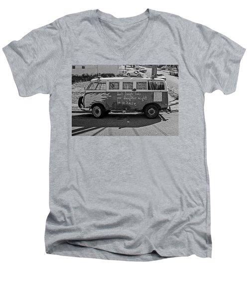 Hippie Van, San Francisco 1970's Men's V-Neck T-Shirt