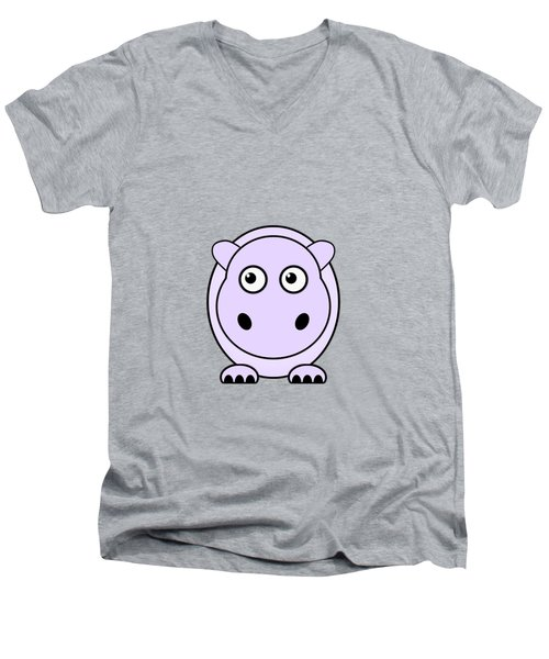 Hippo - Animals - Art For Kids Men's V-Neck T-Shirt