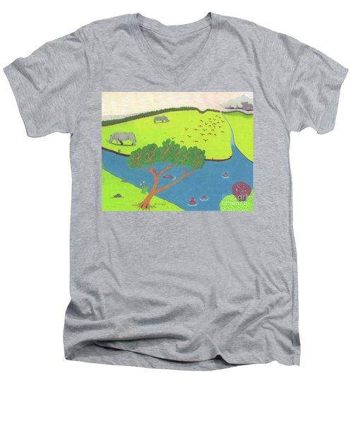 Hippo Awareness Men's V-Neck T-Shirt
