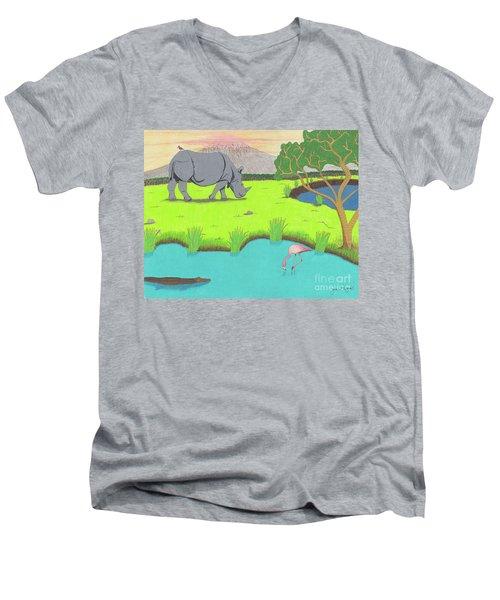 His Backward Glance Men's V-Neck T-Shirt