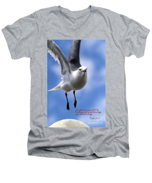 His Feathers Men's V-Neck T-Shirt